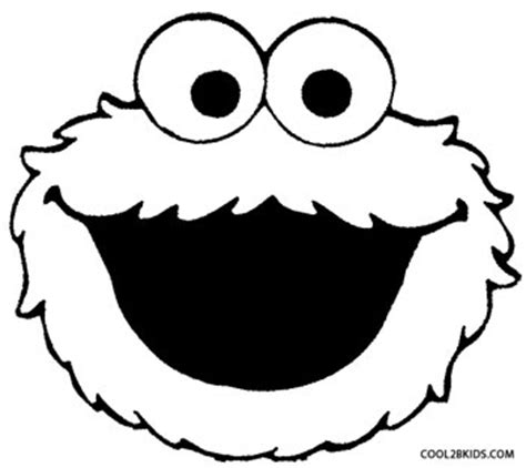 elmo head coloring pages printable cookie monster coloring pages for kids