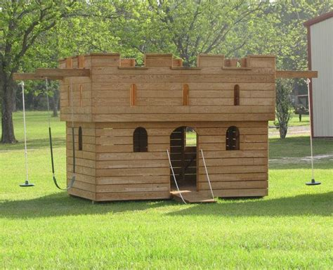 castle playhouse outdoor design with kids in mind
