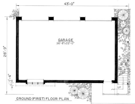 size of a three car garage garage plan 86061 at familyhomeplans com