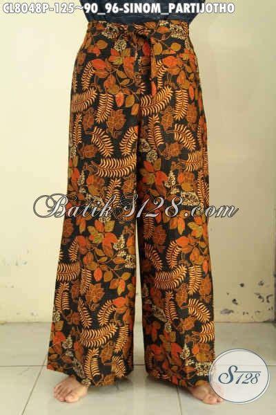 Kulot Jersey All Size jual celana kulot batik model kekinian bawahan batik motif sinom partijotho untuk wanita til