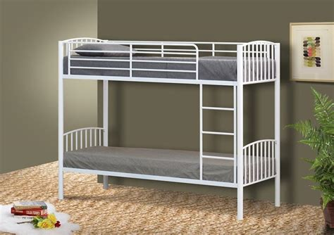 Single Bed Bunk Bed Metal Small Single Bunk Bed In 2ft6 Bunk Metal Frame White Black Silver Ebay