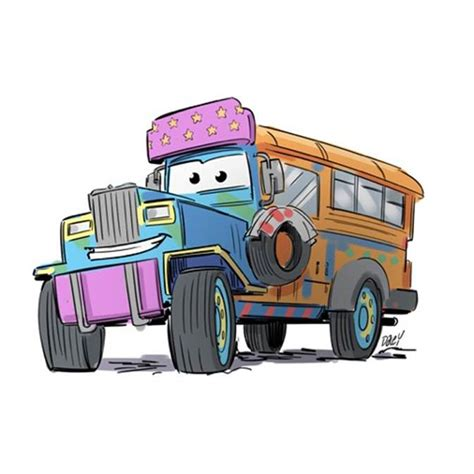 jeepney cartoon exclusive art for ph cars ifies the iconic jeepney rezirb