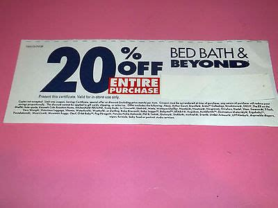 Bed Bath Beyond 20 Off Entire Purchase Coupon 8 26 2013
