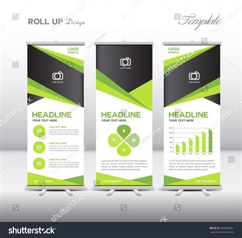 roll up stand design templates green roll up banner template and info graphics stand