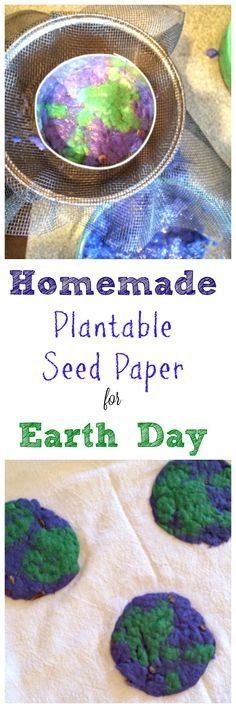 How To Make Plantable Paper - earth day project seed paper earth day seeds