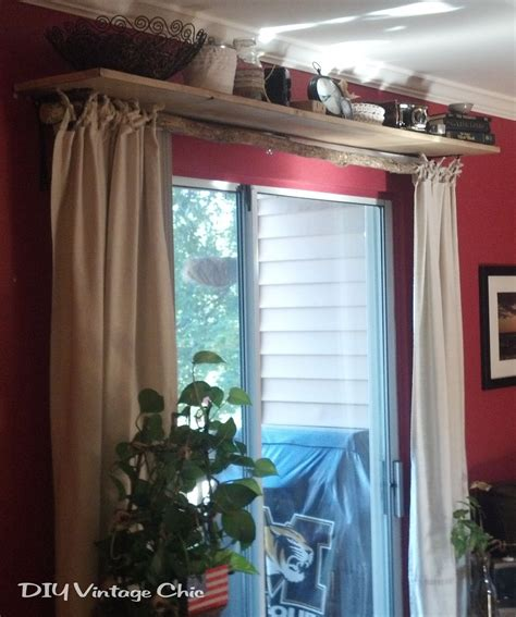 rustic  sew curtains  window treatment note