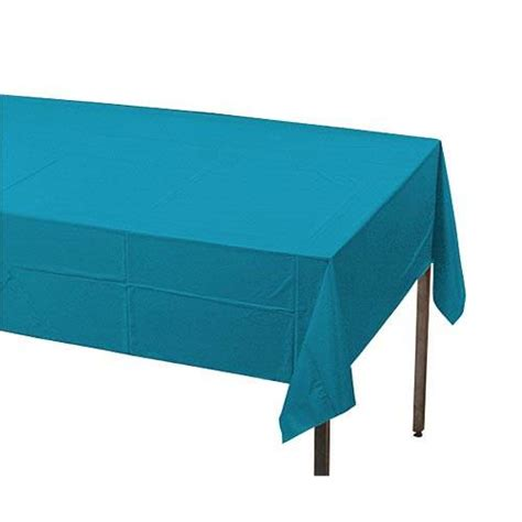 turquoise plastic table covers turquoise plastic table cover stumps