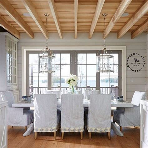 coastal living dining rooms coastal muskoka living interior design ideas home bunch