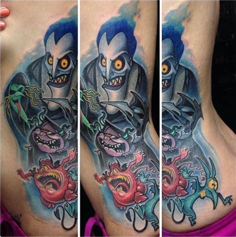 tattoo cartoon monster illustrative style colored side tattoo of cartoon monsters