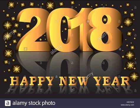 new year 2018 golden week frohes neues jahr 2018 gru 223 karte mit goldenen zahlen und