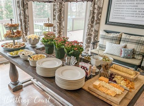 image result for how to set up buffet table entertaining