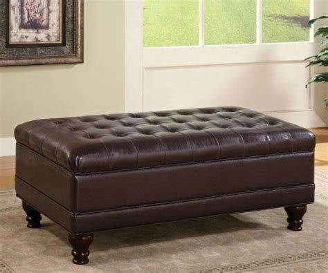 dark brown ottoman with storage dark brown leatherette tufted storage ottoman bench