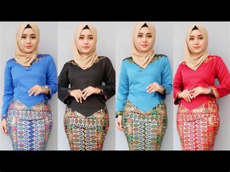 Now Baju Atasan Wanit model baju batik wanita terbaru modern 2018 batik atasan bawahan rok and blouse seragam bank