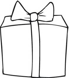 present template gift outline clipart best