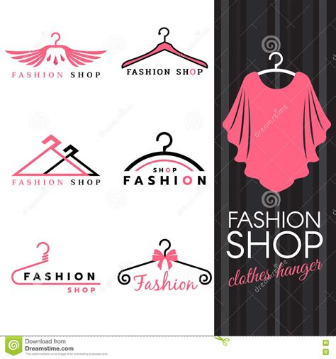 design online free clothes fashion shop logo sweet ping shirts and clothes hanger