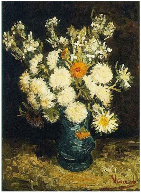 Gogh Flowers In A Vase vincent gogh flowers in a blue vase