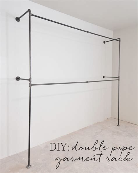 Closet Hanging Rack by Pipe Garment Racks Closet Update Centsational