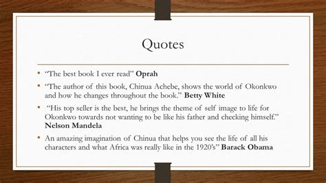 theme quotes in things fall apart things fall apart chinua achebe ppt video online download