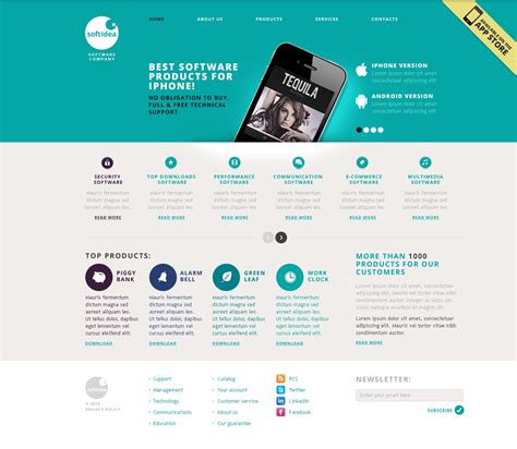 software company website template 40477