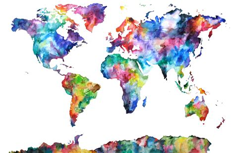 custom world map painting for