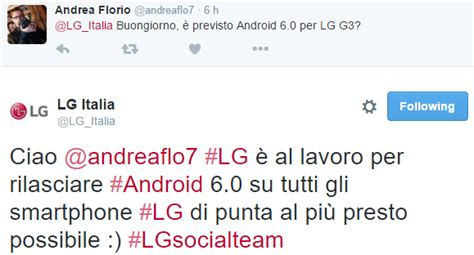 Garskin Lg G3 Road Map lg italia porter 224 android 6 0 marshmallow su tutti gli