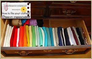 Clothing Drawer Organizers drawer organization ideas filing clothes vacaville