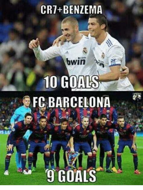 Facebook Soccer Memes - cr7 benzema bwin 10 goals fc barcelona 9 goals barcelona