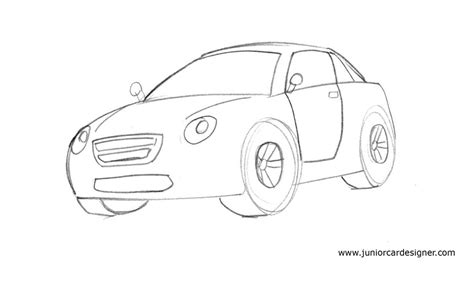 kid car drawing learn how to draw a cartoon car easy junior car designer