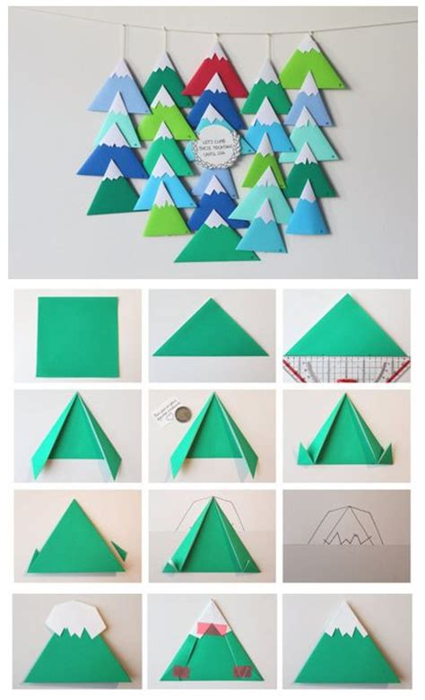 Origami Advent Calendar - diy calendrier de l avent through the mountains advent