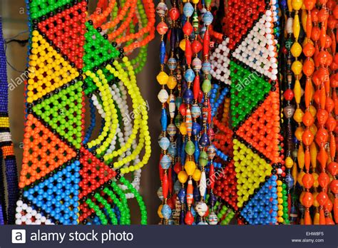 beaded zulu jewellery and colourful necklaces for sale to