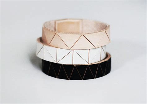 Origami Accessories - leather origami accessories geometric jewelry