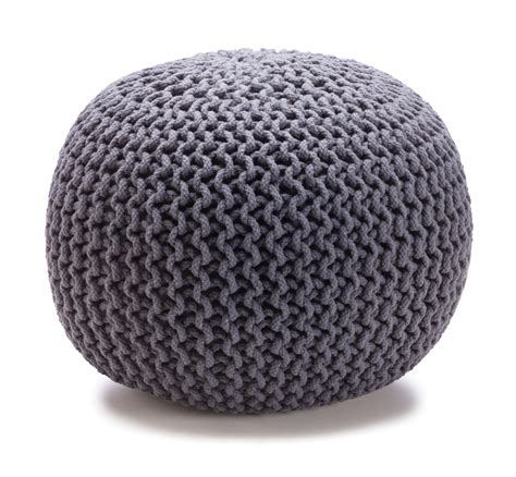 knitted ottomans new kmart home collection checks and spots