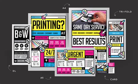 Free Print Shop Templates For Local Printing Services Brandpacks Template Shop Free