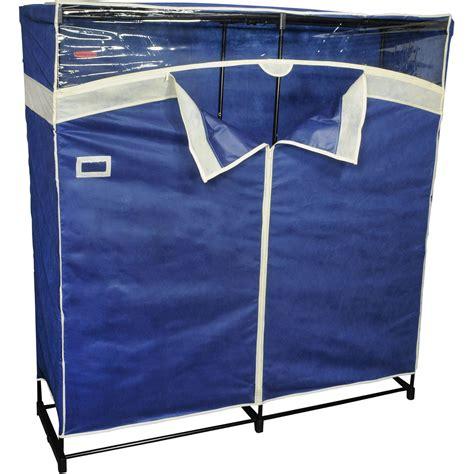 Cloth Closets Clothes Storage New Portable Closet Wardrobe Clothes Garment Rack Navy