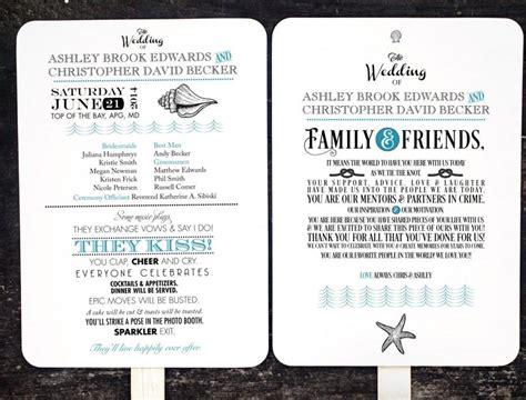 wedding program fans kit diy wedding program fan kit order of service fan
