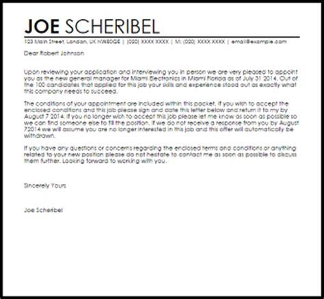 Appointment Letter Matter Appointment Letter Sles Templates Livecareer