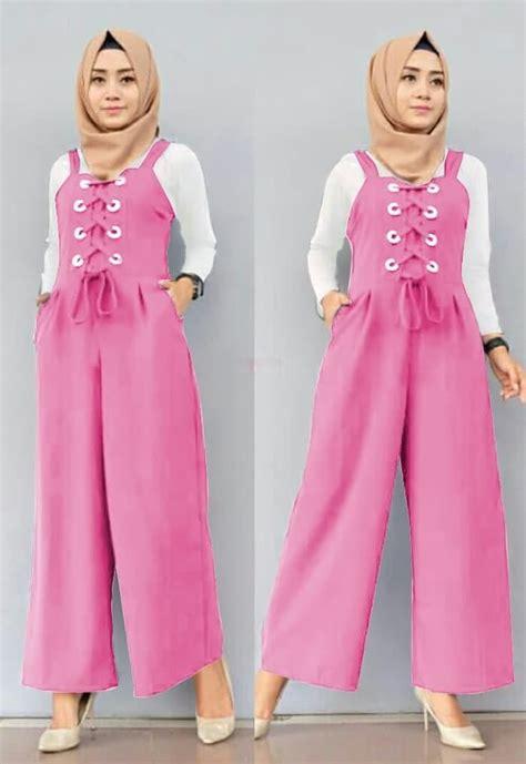 Baju Wanita Jumpsuit setelan baju jumpsuit panjang muslim model terbaru