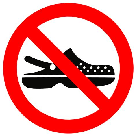no slippers allowed sign no crocs allowed sign by topher147 on deviantart