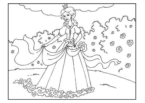 disegni di giardini da colorare disegno da colorare principessa in giardino cat 22650