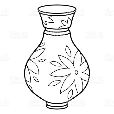 Vase Illustration by Coloring Book Vase Stock Vector 54736748 Istock