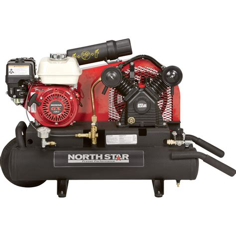 free shipping northstar gas powered air compressor honda gx160 ohv engine 8 gallon