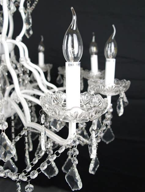 White Branch Chandelier Large 12 Branch Arm White Shallow Cut Glass Chandelier Furniture La Maison Chic Luxury Interiors