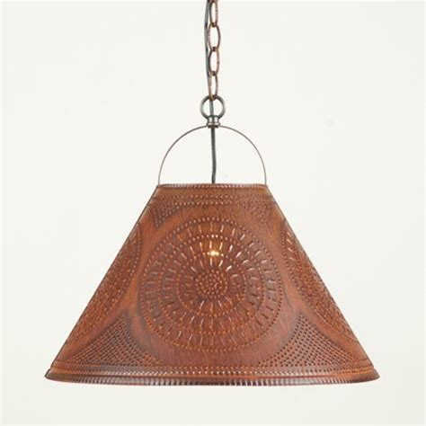 punched tin pendant lights punched tin shade light in rustic tin