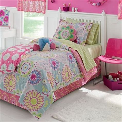 jumping beans girls flower power twin full bed in bag