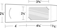 gift card holder template pdf 180 free die cut folder templates pocket folder dieline