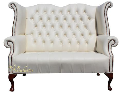 high back leather sofa chesterfield newby 2 seater queen anne high back wing