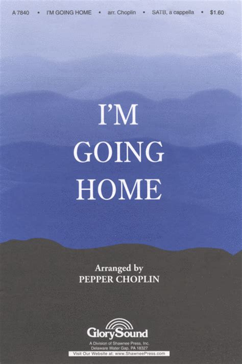 i m going home sheet by pepper choplin sheet