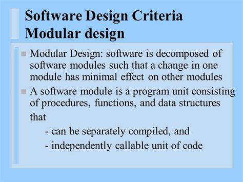 software design quality criteria software design swd instructor dr hany h ammar ppt