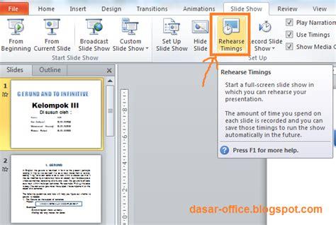 cara membuat powerpoint otomatis cara menjalankan slide show secara otomatis di powerpoint