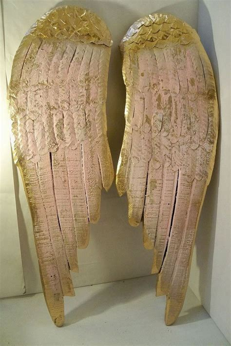 wall decor sculpture wings large wood metal carved wall sculpture